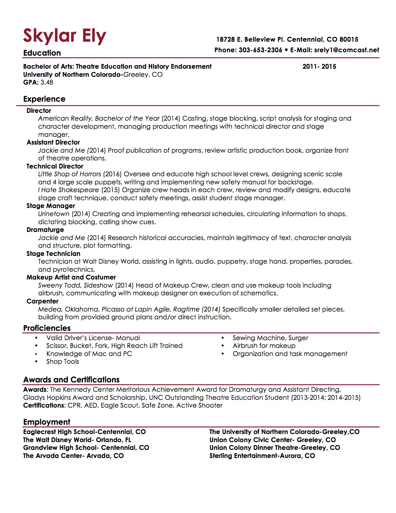 resume template 2017 musical theatre resume template word michael